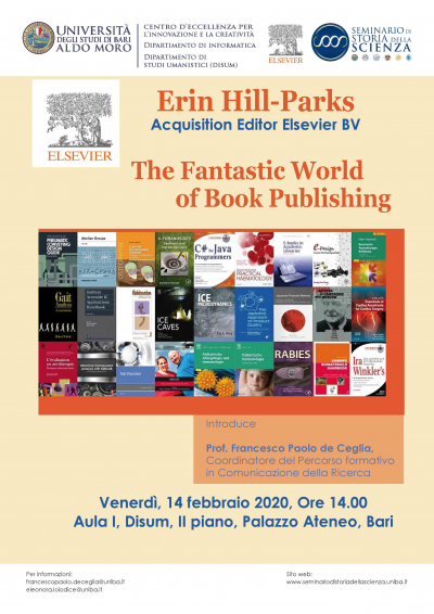"Seminario ""The Fantastic World of Book Publishing"" di Erin Hill-Parks"